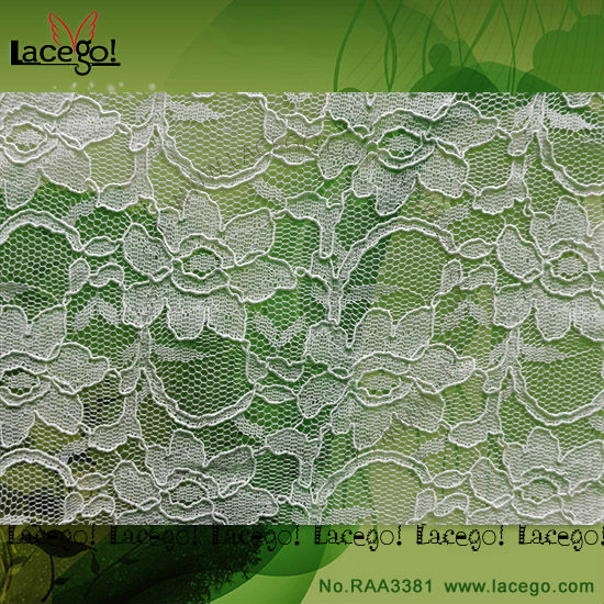 100% Polyester chemical Embroidered lace fabric