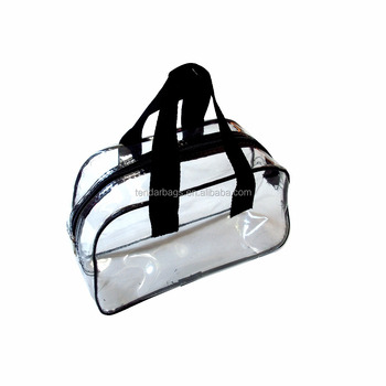 US Clear PVC Handbag Transparent Hand Purse