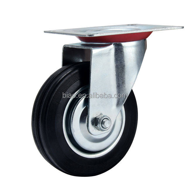 RUBBER FIXED CASTER WHEEL 75MM