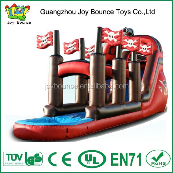 pirate boat inflatable water slide,new model slide on sell,inflatable pirate water slide