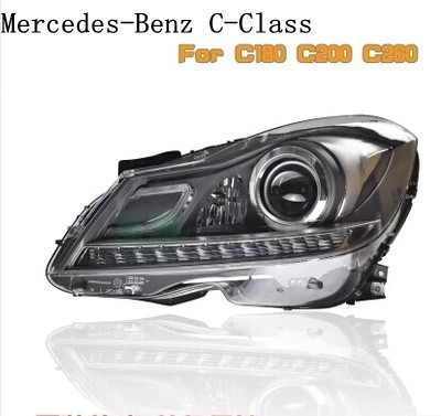 car parts accessories led headlights for Benz C-Class 2012-2013 head lamp with led Q5 hid lens