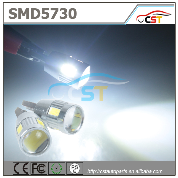 Hottest sales High Power 12V New Product Automobile T10 6 5630 SMD W5W 194 canbus car led light