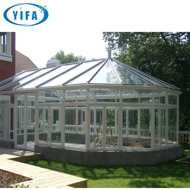 German Style Thermal Break Energy Saving Aluminum Frame Double Glass Lowes Sunroom/Sunhouse