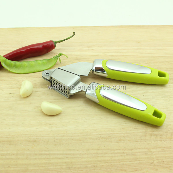 New Premium Solid Green Color Ginger Crusher Stainless Steel Garlic Press