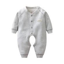Spring Autumn Cute Boys Girls Clothes Comfortable 100% Cotton Plain Baby Bodysuit