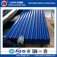 blue sheet metal roofing with AFP