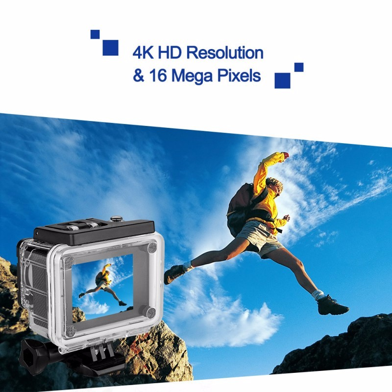 4K 30fps action camera !! Go Pro Style Full Hd Wifi Night Vision 170 degree 4k Helmet Sport Action Camera