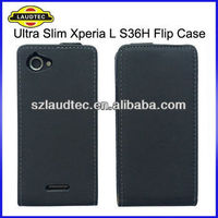 New Arrival 100% Perfect Fit Slim Design Flip Case cover for Sony Xperia L S36h