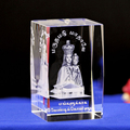 custom 3D laser engraving ChristianThe virgin brussel crystal religious souvenior
