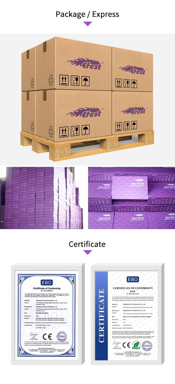 Efest bateria 26650 4200 mAh 32A 50A bateria de alta drenagem Efest IMR 26650 3500 mah Efest IMR 26650 5000 mah 45A bateria poderosa