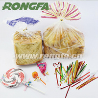 various colors single wire twist tie for bread and gift bag closure