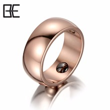 Factory Price Best Gift Titanium Magnetic Body Jewelry Wholesale Rose Gold Ring For Unisex
