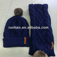 Fashion Wool Knitted Winter Faux Fur