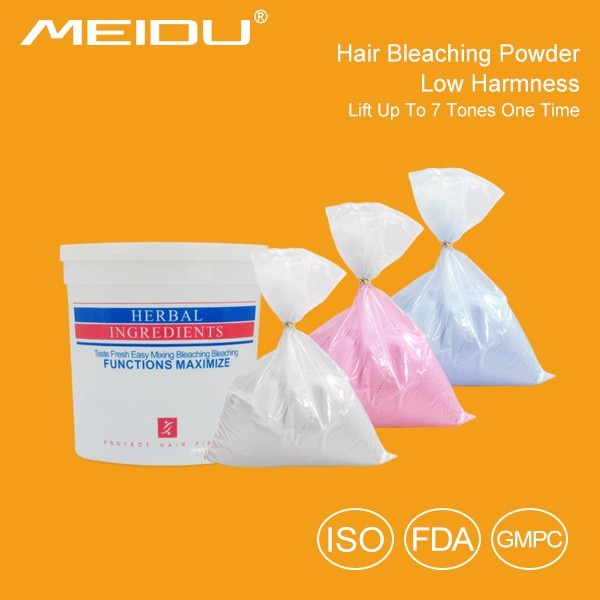 china hair care products manufacturer wholesale white and blue color dust free hair color bleaching powder for hair