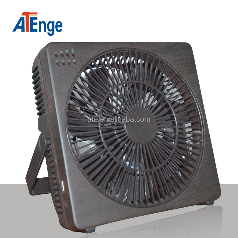Protable Wood grain folded Mini USB mist cool table fan
