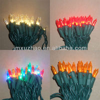 UL 120V 50L 5M Full Wave Green Wire 3mm LED Mini Multicolor Christmas Lights