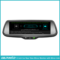 "car monitor 7,3"" with auto parking camera,wireless mirror link telematics system"