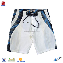 Mens Easy Clean White High Waisted Beach Short Shorts