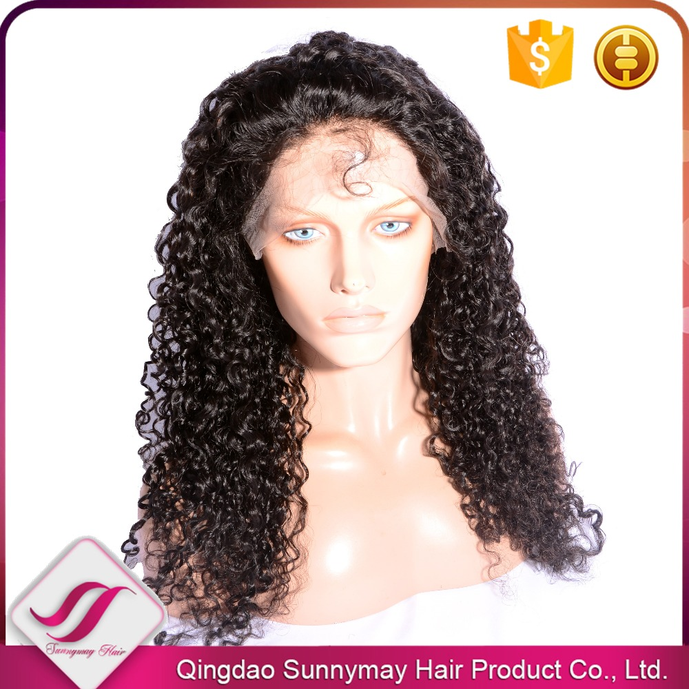 Real Virgin Brazilian Hair Lace Wigs For Black Women Natural Wave 150% Density Full Lace Human Hair Wigs