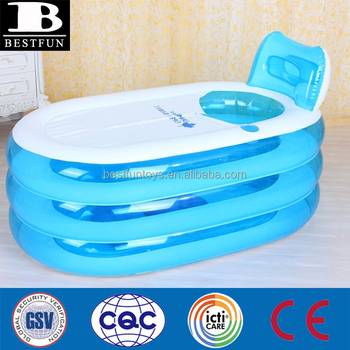 high quality plastic inflatable bathtub for adults folding portable inflatable spa air bathtub