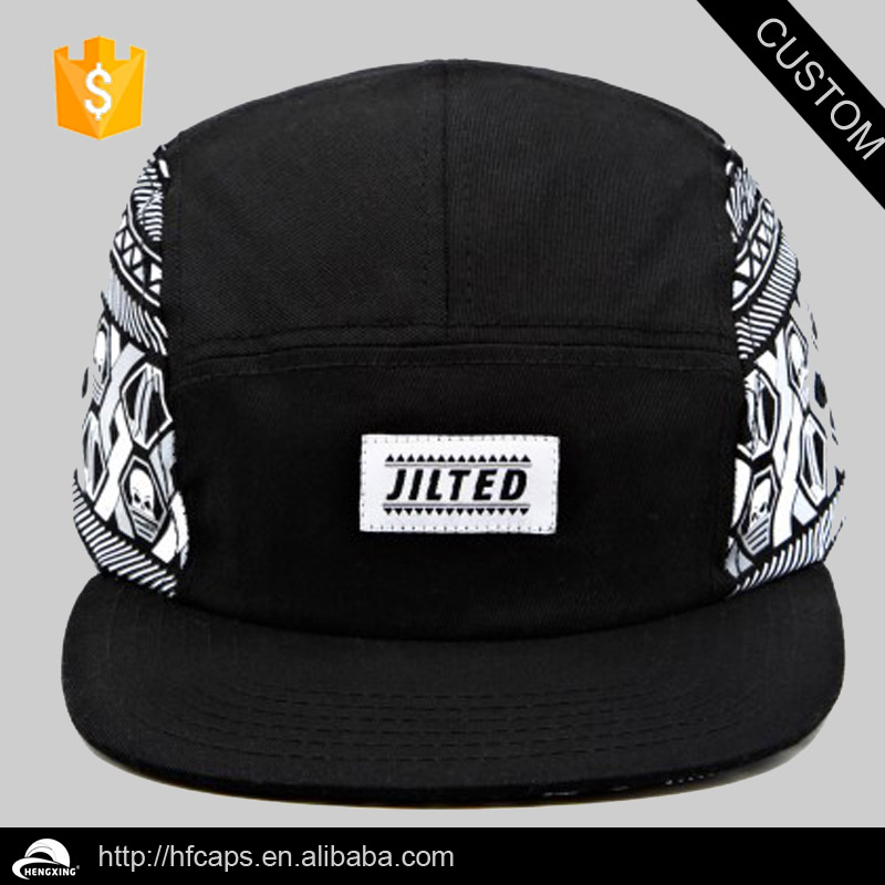 Cool designer made in China flat bill/cheap custom 5 panel hats/caps for men/ladies