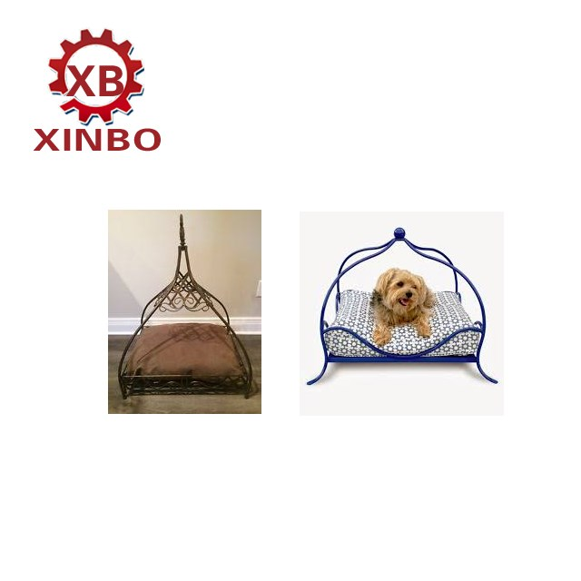 best selling pet products decorative wrought iron dog bed lucky and cute princess dog bed with cushion and pillow