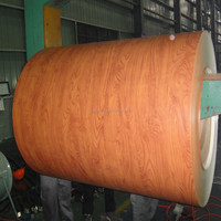 Wood imitation prepainted steel for prefabricated houses wall panels