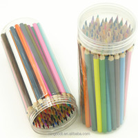 72 pcs easy coloring wooden color pencils