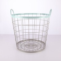 Popular sale large metal shopping basket with handle