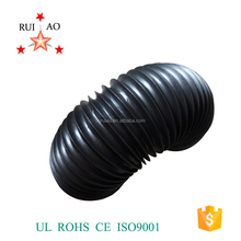 Round cylinder flexible telescopic bellows