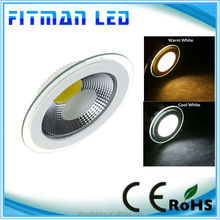 2014 best quality Epistar chip 10W cob led downlight with glass cover