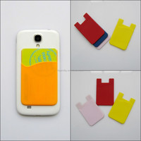 Cheap new 3M sticker silicone mobile cell phone case credit card holder