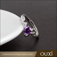 OUXI High End Engagement Wedding Ring, Silver 925 Love Ring For Couples