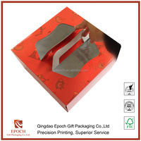 cake packaging paper box with window
