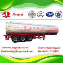 3 axle 50000 liters Hongtai fuel tank semi trailer with cheap and new price from china supplier