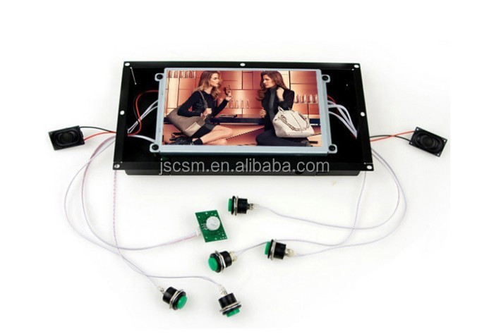 Hot sale 7inch open frame 1080p digital video player for advertising