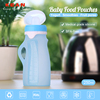 Medical grade foldable food feeding BPA free baby bottle with FDA certificate