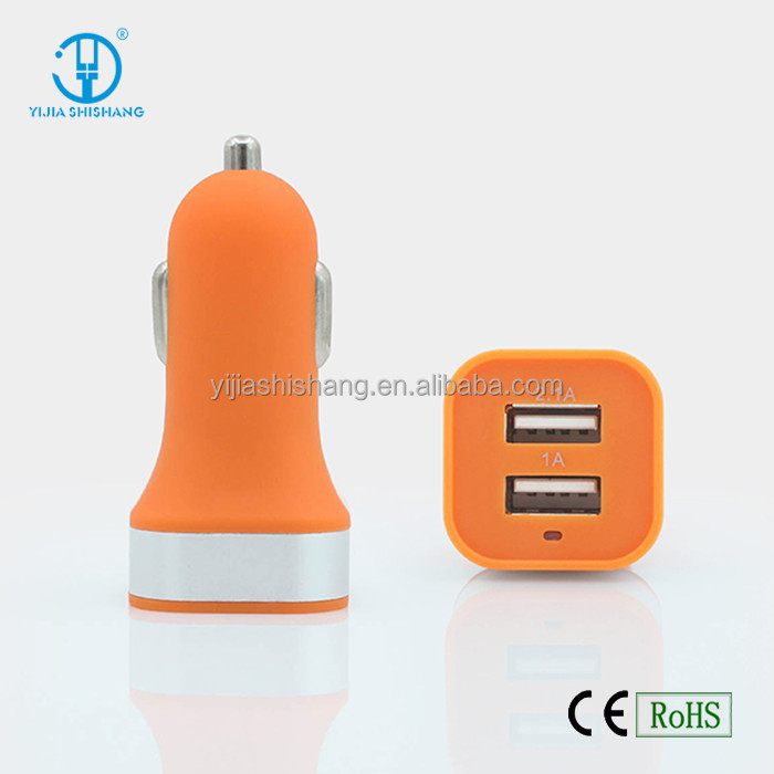 5V 3.1A Cell Phone Car Charger Two USB Ports Output Mini Car Charger For All Mobile Phones