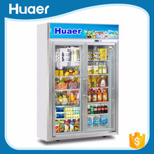 Cost-effective Voltage 220 V double door refrigerator Beverage display fridge upright display cabinet