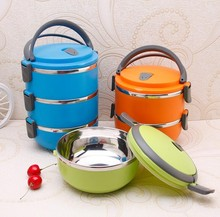 Stainless steel+PP tiffin box outdoor used food grade plastic bento lunch box