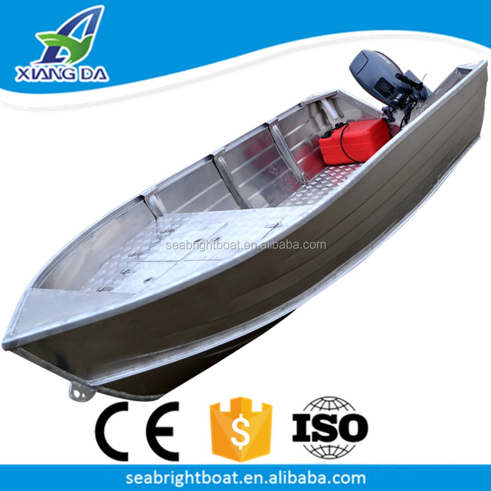 2016 CE Approved All Welded 10ft Fishing Aluminum Boats for Sale with aluminum boat Trailer