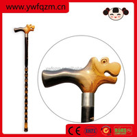 Wholesale Cheap Wooden walking stick cane with dargon head