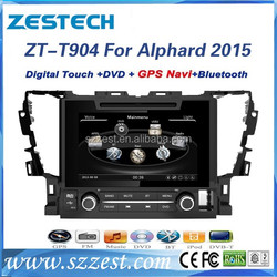 ZESTECH double din car stereo for Toyota Alhphard 2015 car Audi GPS Navigation with USB SD SWC 3G DVD +A8 Chipset