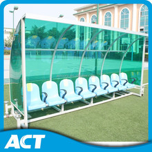 All weather applicable portable soccer team shelters /stadium seating