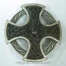 cheap price western christmas cross belt buckles