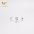 Simple style zircon lover's sample diamond wedding ring