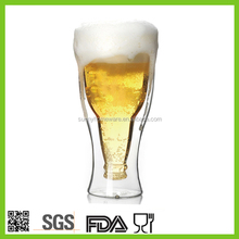 Double wall Hopside down beer glass