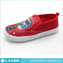 custom cartoon character printing canvas shoes for kids