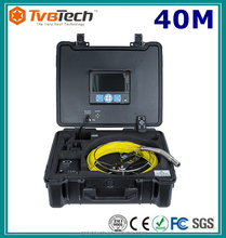 "23MM Camera Head Sony 1/3 CCD 40M Cable 7"" TFT LCD Pipe Inspection Camera With Built in DVR, Sonde&Locator"