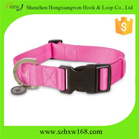 Double Up pink nylon dog collars